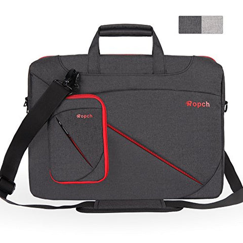 Ropch 17.3 Inch Nylon Laptop Bag Messenger Shoulder Bag Notebook Computer Case for 17 - 17.3 Inch Laptop / Notebook / Ultrabook / Chromebook Computers - Black