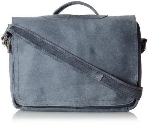 David King & Co. Porthole Briefcase Distressed, Grey, One Size