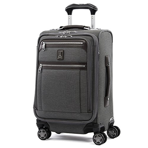 "Travelpro Luggage Platinum Elite 20"" Carry-on Expandable Business Spinner w/USB Port, Vintage Grey"