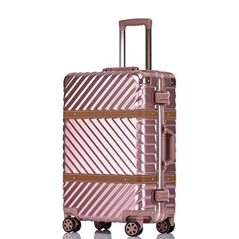 Unitravel Vintage Suitcase Hardshell Rolling Luggage Spinner Trolley Case With Tsa Lock