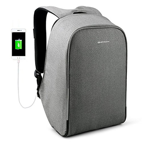 Kopack Waterproof Anti Theft Laptop Backpack With Usb Charging Port Business Travel Backpack Bag