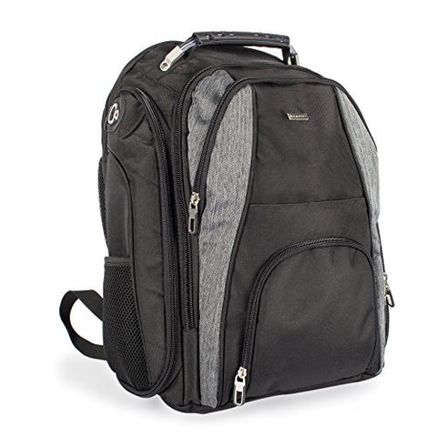 Bugatti Matt Business Backpack, Polyester, Black