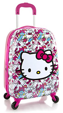 "Hasbro Hello Kitty Girl's 20"" Hardside Spinner Carry On Expandable Luggage"