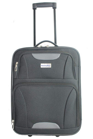 "BoardingBlue 18"" Frontier, Spirit, America Airlines Personal Item Under Seat Basic Luggage (Black)"