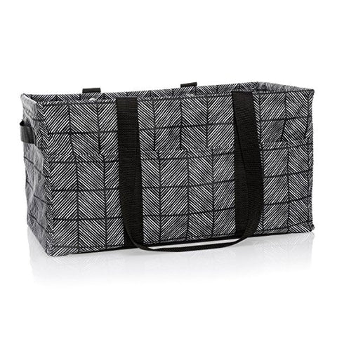 Thirty-One Deluxe Utility Tote In Chevron Squares - No Monogram - 4441