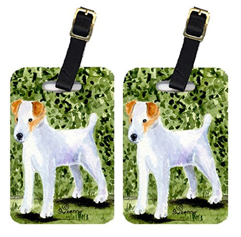 Caroline's Treasures SS8734BT Pair of 2 Jack Russell Terrier Luggage Tags, Large, multicolor