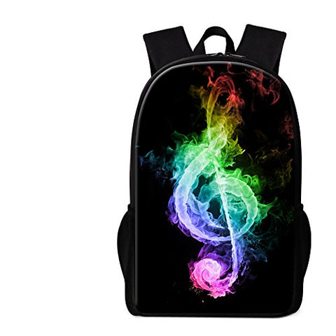 Crazytravel Bookbag Back Pack For School Child College Young Mens Womens Music Print