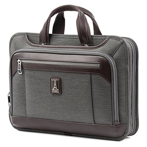 "Travelpro Luggage Platinum Elite 16"" Carry-On Slim Business Computer Briefcase, Vintage Grey, One"