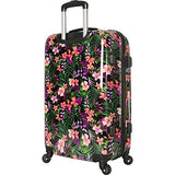 "Tommy Bahama 28"" Hardside Luggage Spinner Suitcase Hibisus Vine Black, Hibiscus"