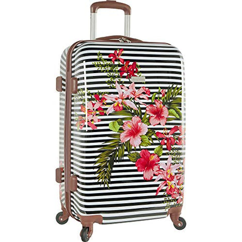 "Tommy Bahama 24"" Hardside Luggage Spinner Suitcase Floral Stripe"
