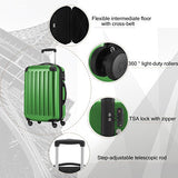 HAUPTSTADTKOFFER Luggages Sets Glossy Suitcase Sets Hardside Spinner Trolley Expandable(20', 24'