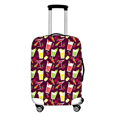 Personalised Luggage Cover Desserts Printed Suitcase Protector