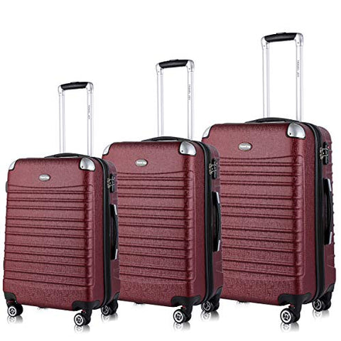 Hardside Luggage Set, Tsa Lightweight Spinner Luggage Sets, Expandable Carry On Luggage 3 Piece Set