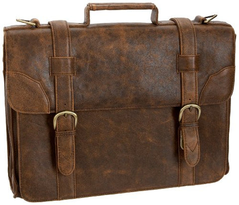 Hidesign By Scully Aerosquadron Brief Laptop Satchel Brief,Walnut,One Size