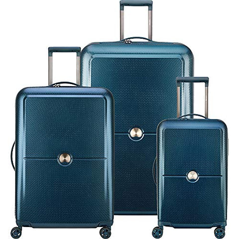DELSEY Paris Turenne 3 Piece Spinner Set, Blue