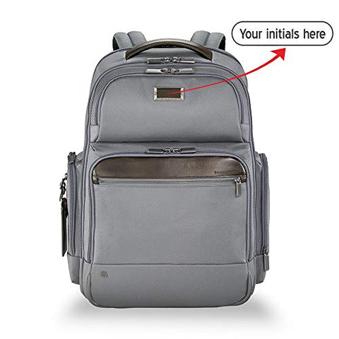 Briggs & Riley @work Large Cargo Laptop Backpack (GREY, FREE MONOGRAMMING & FREE RETURNS)