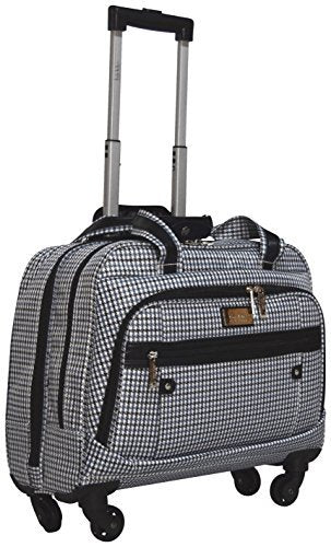 Nicole Miller Taylor Carry On Spinner Briefcase (Taylor Blue Plaid)