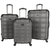 "Ben Sherman Nottingham 20"" Lightweight Embossed Pap 4-Wheel Upright Carry-On, Charcoal"