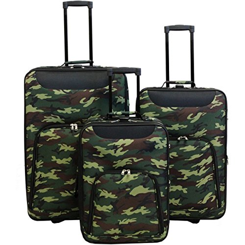 World Traveler Vogue Expandable Upright Luggage Set, Camouflage