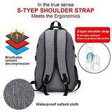 Worth Trust TNB-BAG01 Laptop Backpack, Anti Theft Water Resistant College School Bookbag, Slim Business Backpack Fits Up to 17""