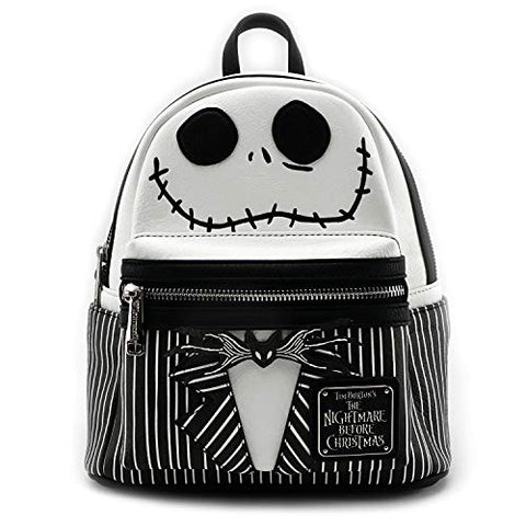 Loungefly Nightmare Before Christmas Jack Mini Backpack Black/White