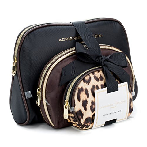 Adrienne Vittadini Cosmetic Makeup Bags: Compact Travel Toiletry Bag Set In Small, Medium And Large