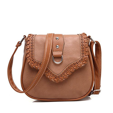 Bibitime Hollow Out Casual Beach Bag Shoulder Bag Crossbody Bag Handbag Messenger Bag Cross Body