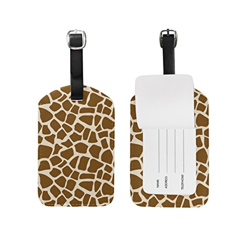Cooper Girl Giraffe Skin Luggage Tag Travel Id Label Leather For Baggage Suitcase 1 Piece