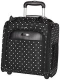 Kenneth Cole Reaction Dot Matrix Wheeled Underseater / Carry-on, Black