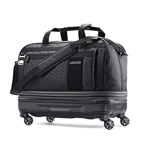 American Tourister Pearce Hybrid Expandable Wheeled Duffel, Black Print