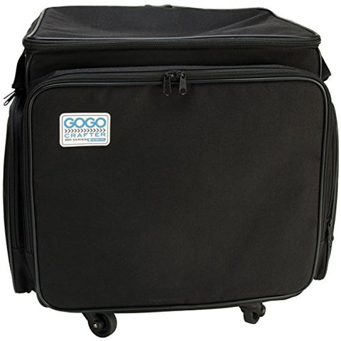 Hampton Art Gogo 300 Crafter Rolling Tote, 20-Inch By 17-Inch By 14-Inch, Black