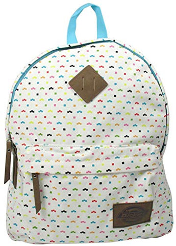 Dickies Cotton Canvas Classic Backpack, Colorful Fleck Travel School Pack