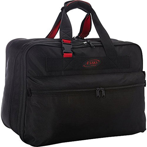 A. Saks 21 Inch Double Expandable Soft Carry-On (Black/Red)