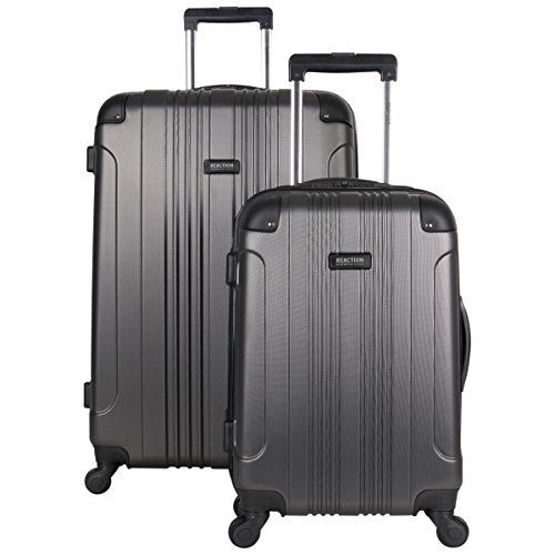 "Kenneth Cole Reaction Out of Bounds Abs 4-Wheel Luggage 2-Piece Set 20"" and 28"" Sizes, Charcoal"