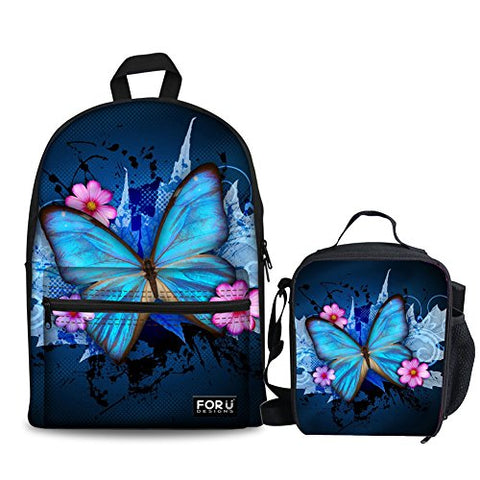Freewander Personalized Casual Backpack Canvas Animal Printing School Book Bag