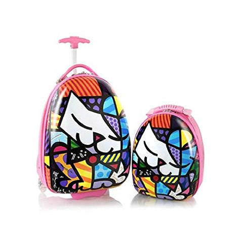 "Heys Britto For Kids 2Pc- 18"" Luggage And 15"" Backpack Set - Kitty"
