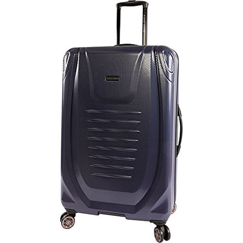 "Perry Ellis Bauer 29"" Hardside Checked Spinner Luggage, Navy"