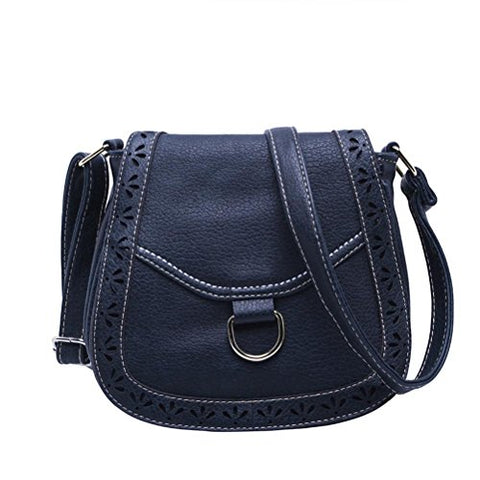 BIBITIME Campus Preppy Shoulder Messenger Bag Hollow Clover Cross body Bag Travel Bag for Holiday