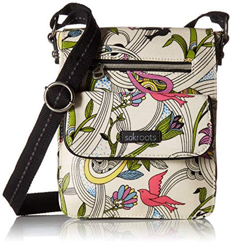 Sakroots Unisex-adults Artist Circle Small Flap Messenger, White Peace Dove