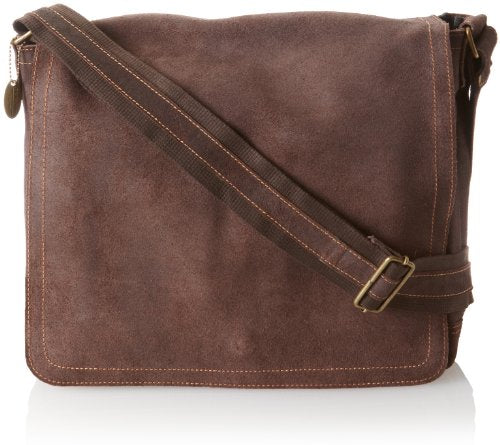 David King & Co. Full Flap Messenger Distressed, Cafe, One Size