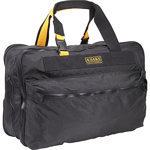 A.SAKS On The Go 21 inch Expandable Carry-On , Black/Yellow