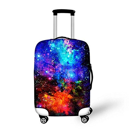 Dbtxwd Suitcase Protective Cover 3D Colorful Stars Wear-Resisting High Elastic Force