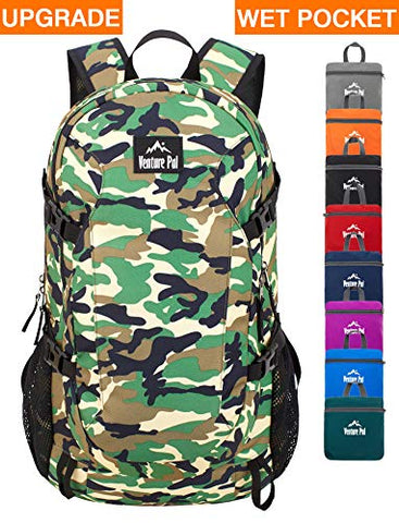 Venture Pal 40L Lightweight Packable Backpack with Wet Pocket - Durable Waterproof Travel Hiking