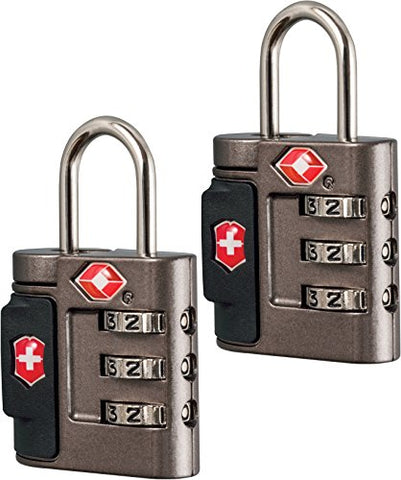 Victorinox Travel Sentry Approved Combination Lock Set, Grey, One Size