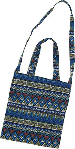 Zuzify Printed Cotton Canvas Shoulder Or Carry Tote Bag. Zuz0014 Os Blue