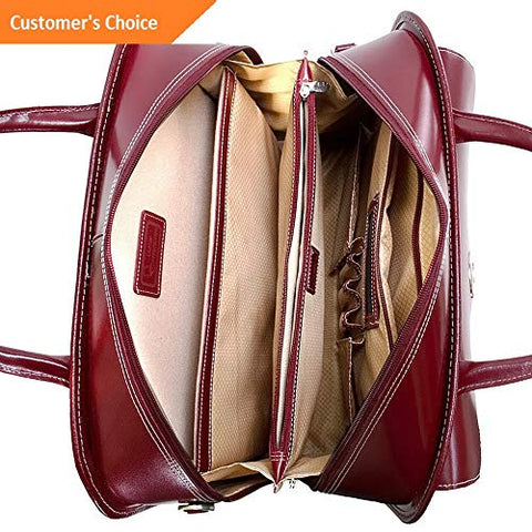 Sandover McKlein Berkeley 15 Leather Rolling Laptop Tote Wheeled Business Case NEW | Model LGGG - 5556 |