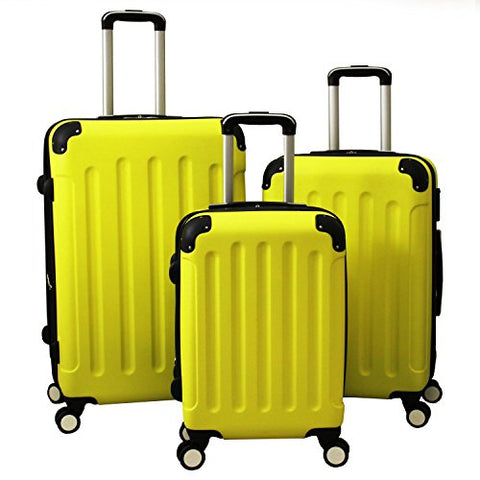 World Traveler Aria 3-Piece Hardside Spinner Luggage Set, Yellow