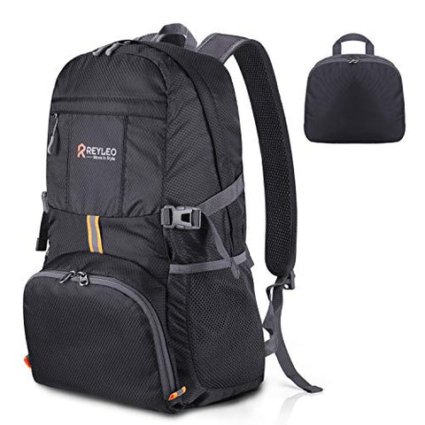 Reyleo Foldable Travel Hiking Backpack, Ultra Lightweight Packable Carry On Daypack Unisex For