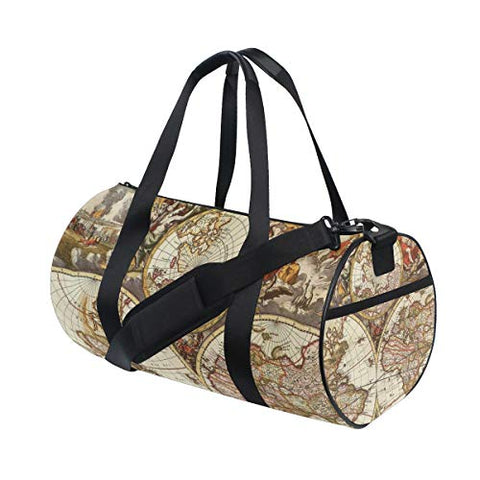 OuLian Duffel Bag Vintage Map Wallpapers - Cave Women Garment Gym Tote Bag Best Sports Bag for Boys