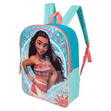 Disney's Moana Backpack Combo Set - Disney Moana Girls' 3 Piece Backpack Set - Backpack, Waterbottle and Carabina (Teal/Turq)